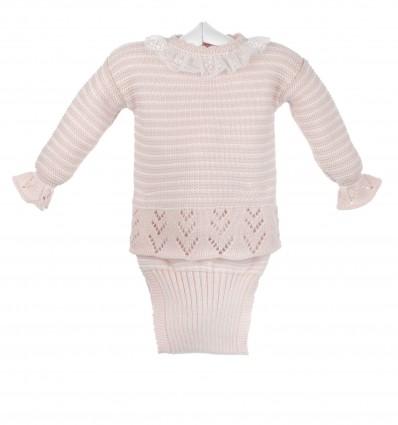 Conjunto de jersey y braguita de bebé
