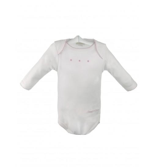 Body de algodón de bebé de manga larga