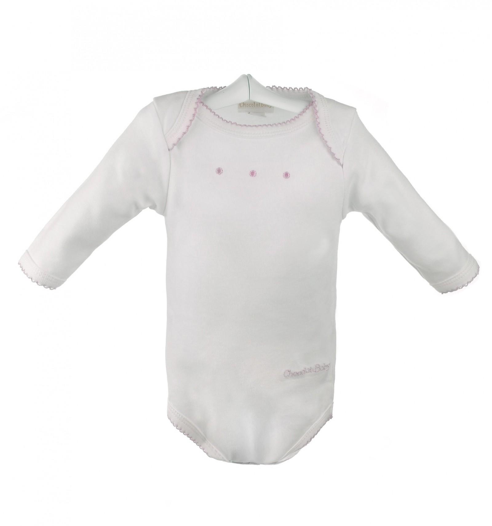 fa0d04e28 Body interior de algodón para bebés de manga larga