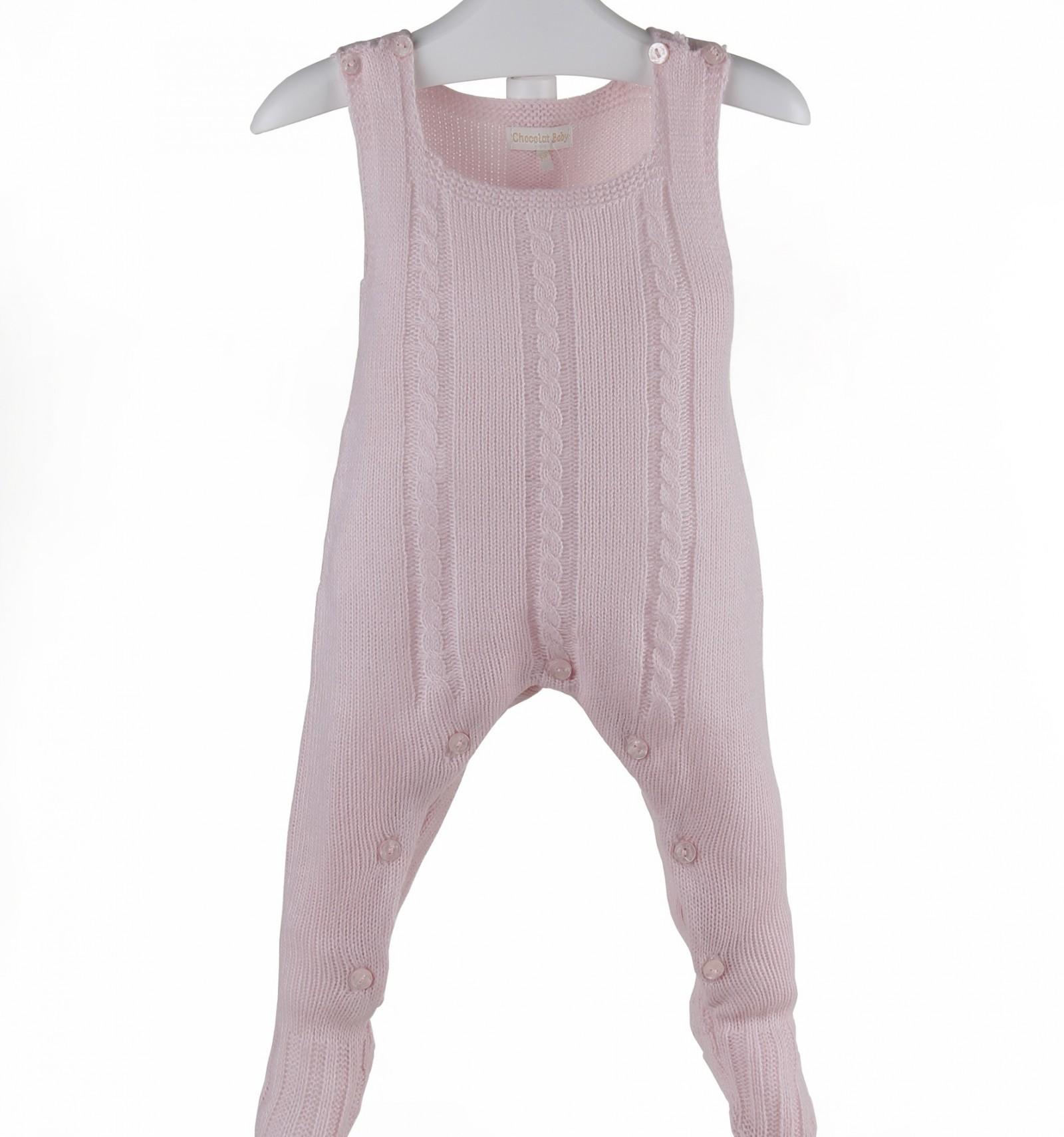 6a44840f5 Pelele de bebé de lana de tirantes