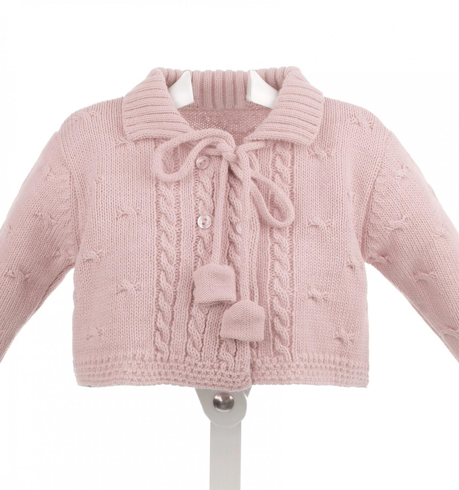 0df4aef49 Abrigo de lana para bebé cruzado con ochos