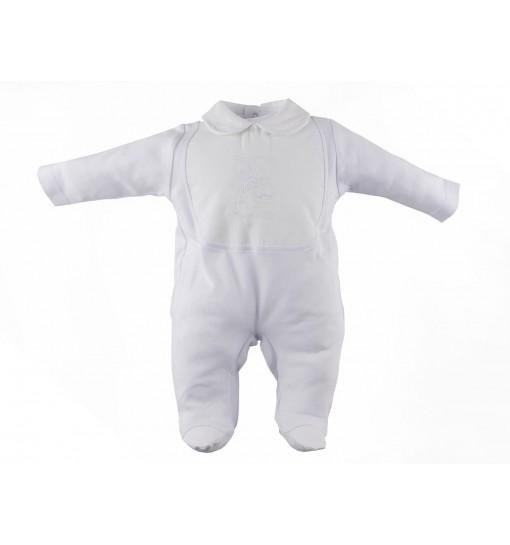Pijama entetrizo con delantero de piqué