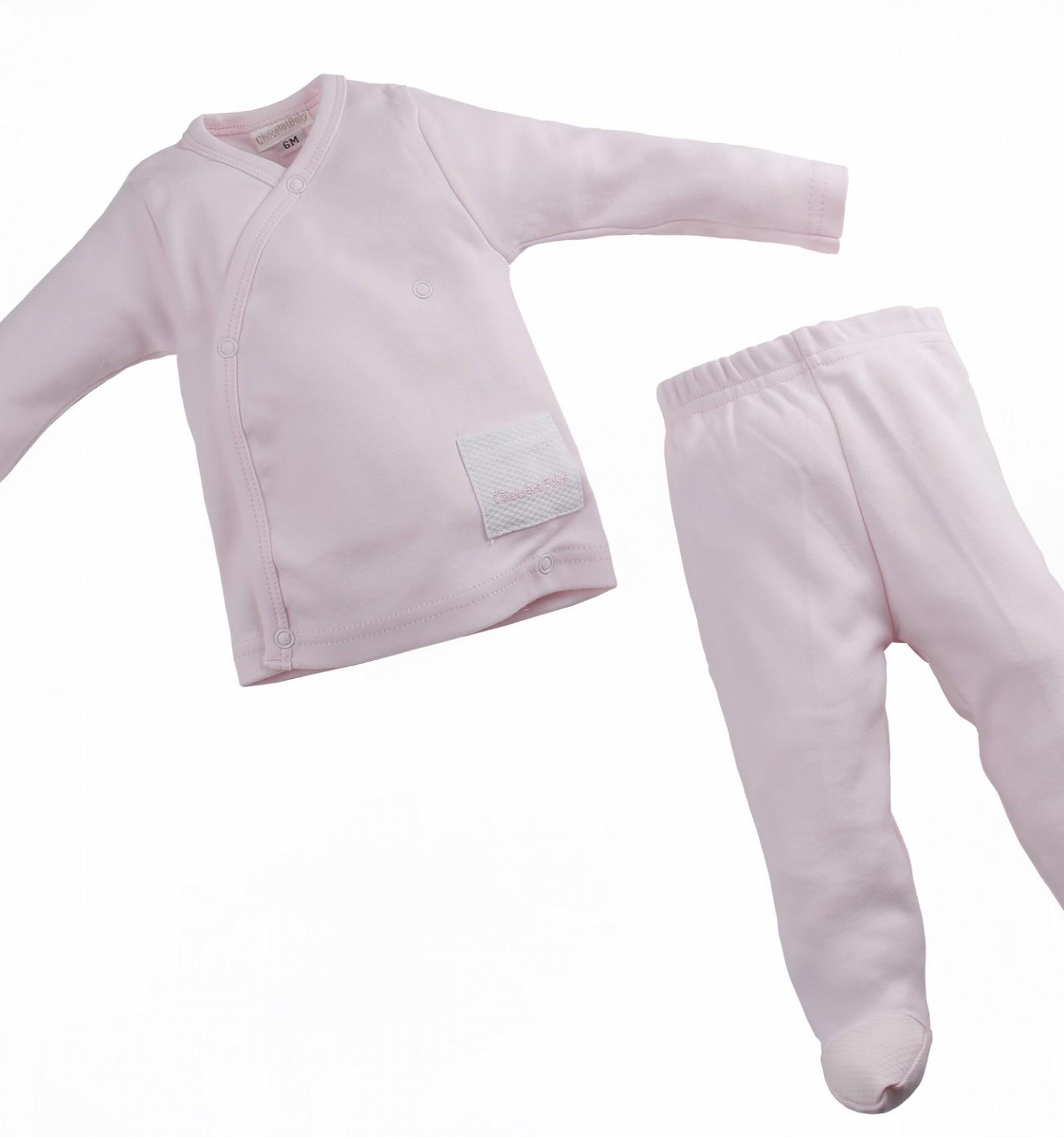 Pijama de dos piezas con el cuerpo cruzado para beb s for Piezas para bebes