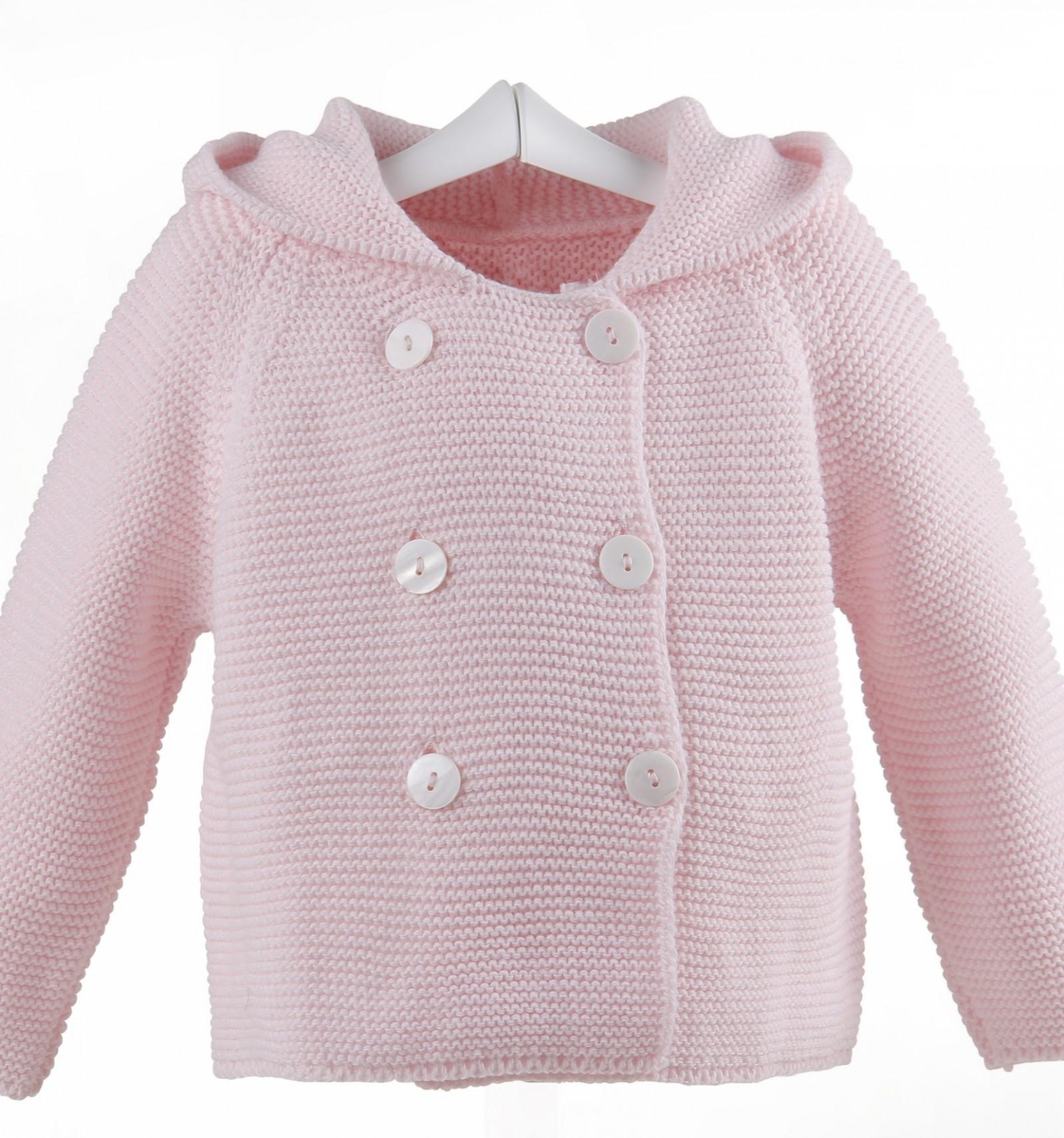 1e9f5c9b4 Abrigo de lana para bebé cruzado con capucha