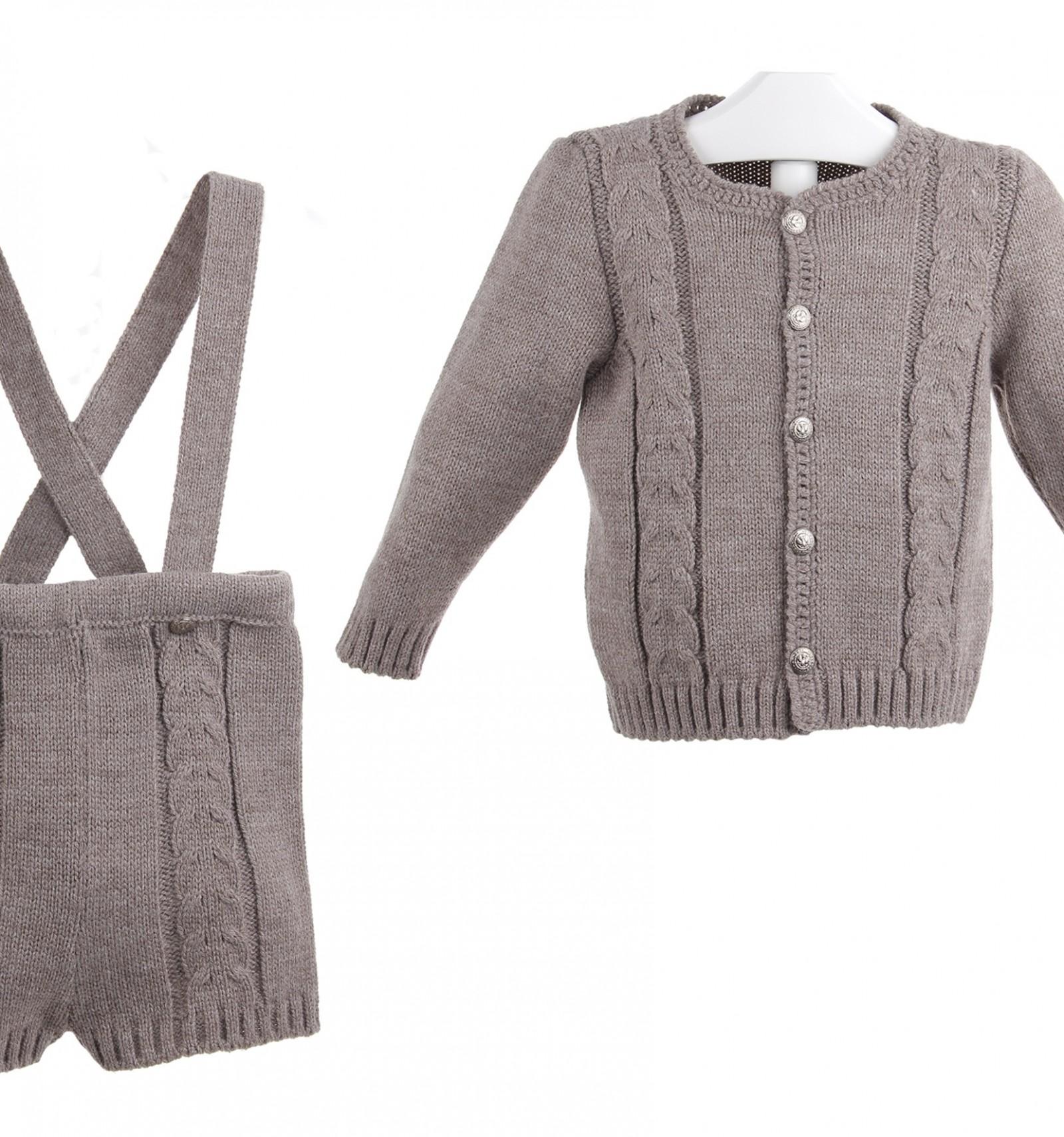 Conjunto tirolés de chaqueta y pantalón de tirantes para bebés b75342227346
