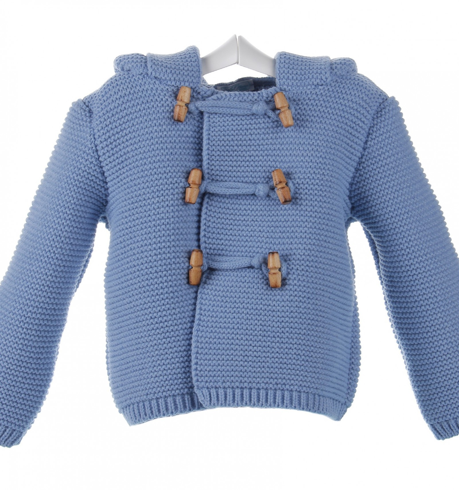 66b4964f4 Abrigo para bebé de lana con capucha