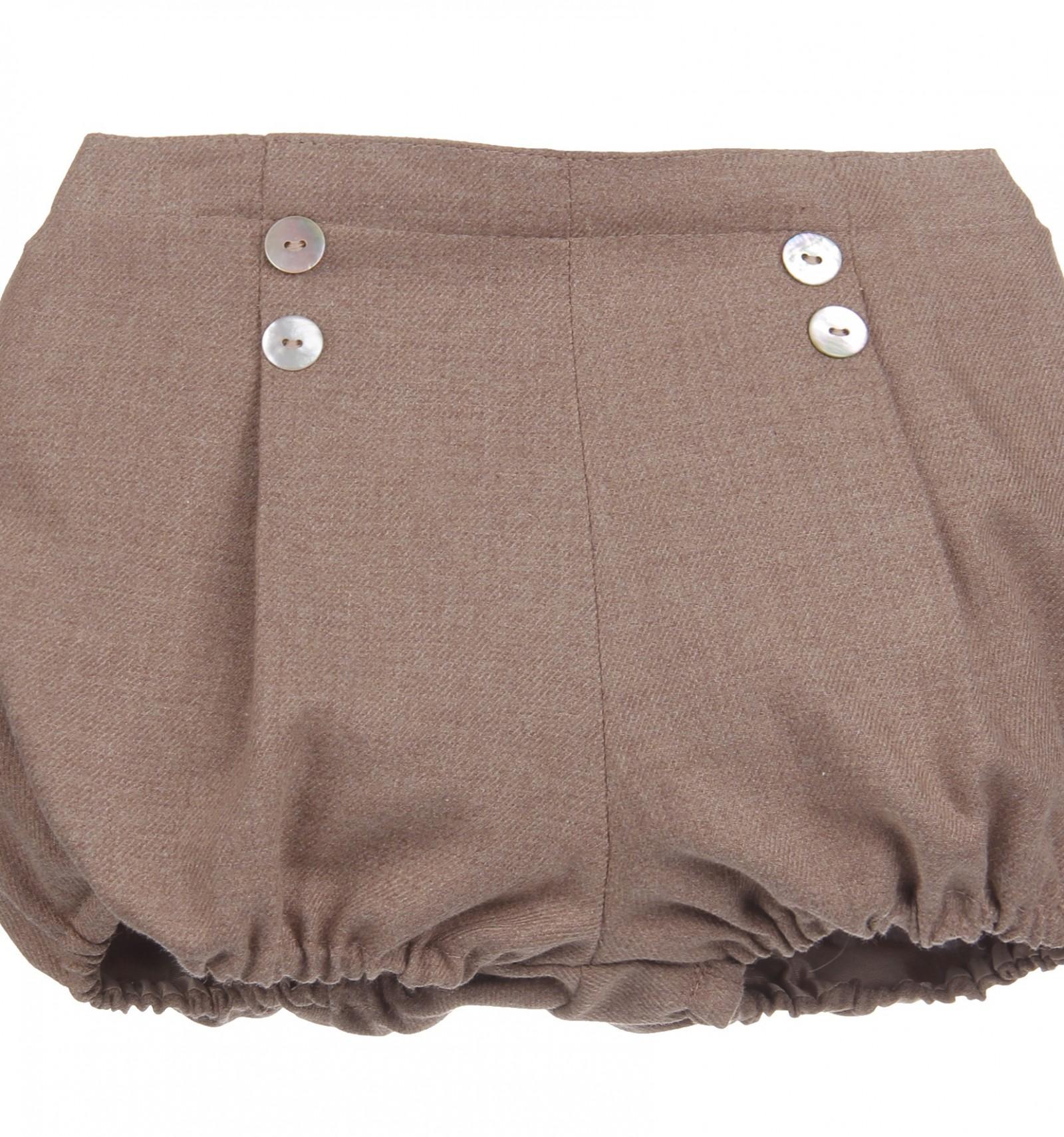 1a206eba1 Ranita para bebé marrón ajustada en la cadera con botones