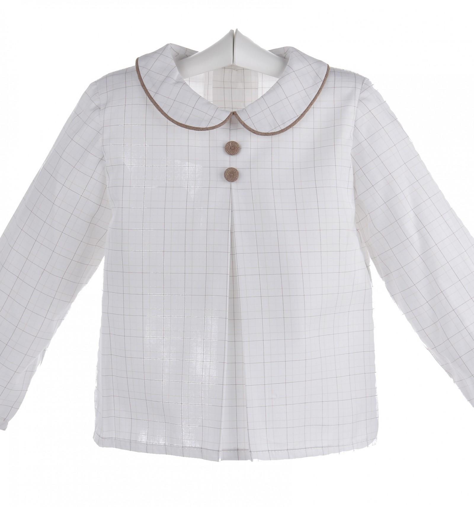 Camisa de bebé e infantil de cuadros marrones 79a7d019980