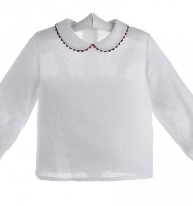 Camisa blanca de bebé de plumeti