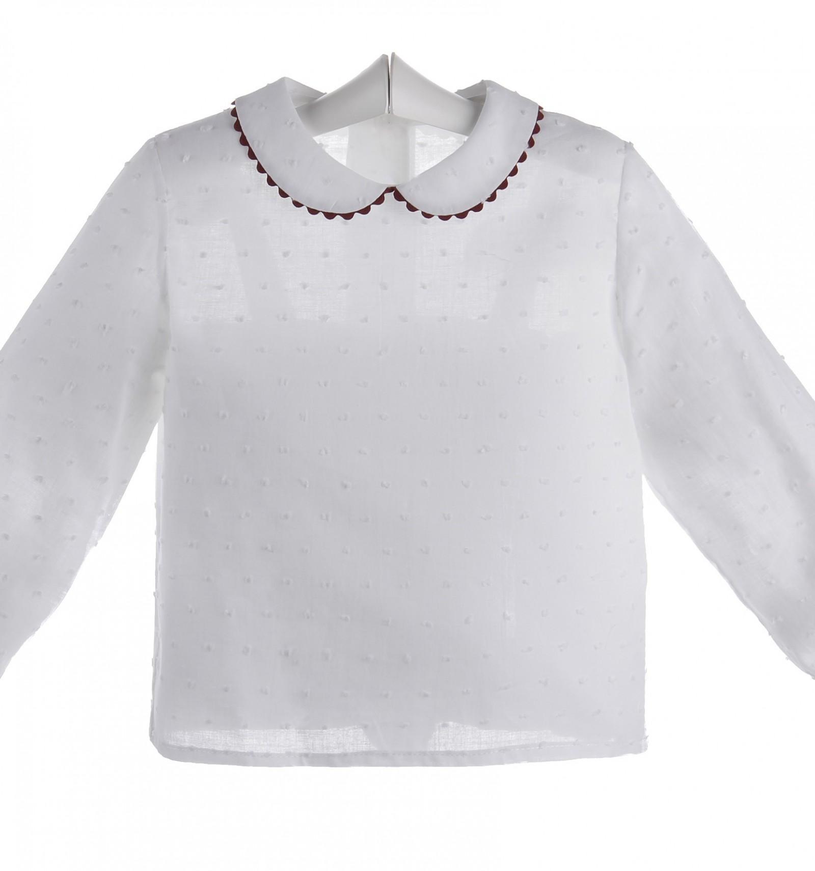 cc3d22f20 Camisa blanca de bebé de plumeti