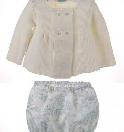 Conjunto para bebé de chaqueta y ranita de lino