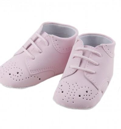 Botas para bebé de nobuk con la puntera perforada