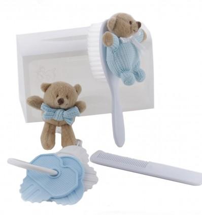 1c03f49b6 Maletin de regalo para bebé con ositos con peine, cepillo y llaves