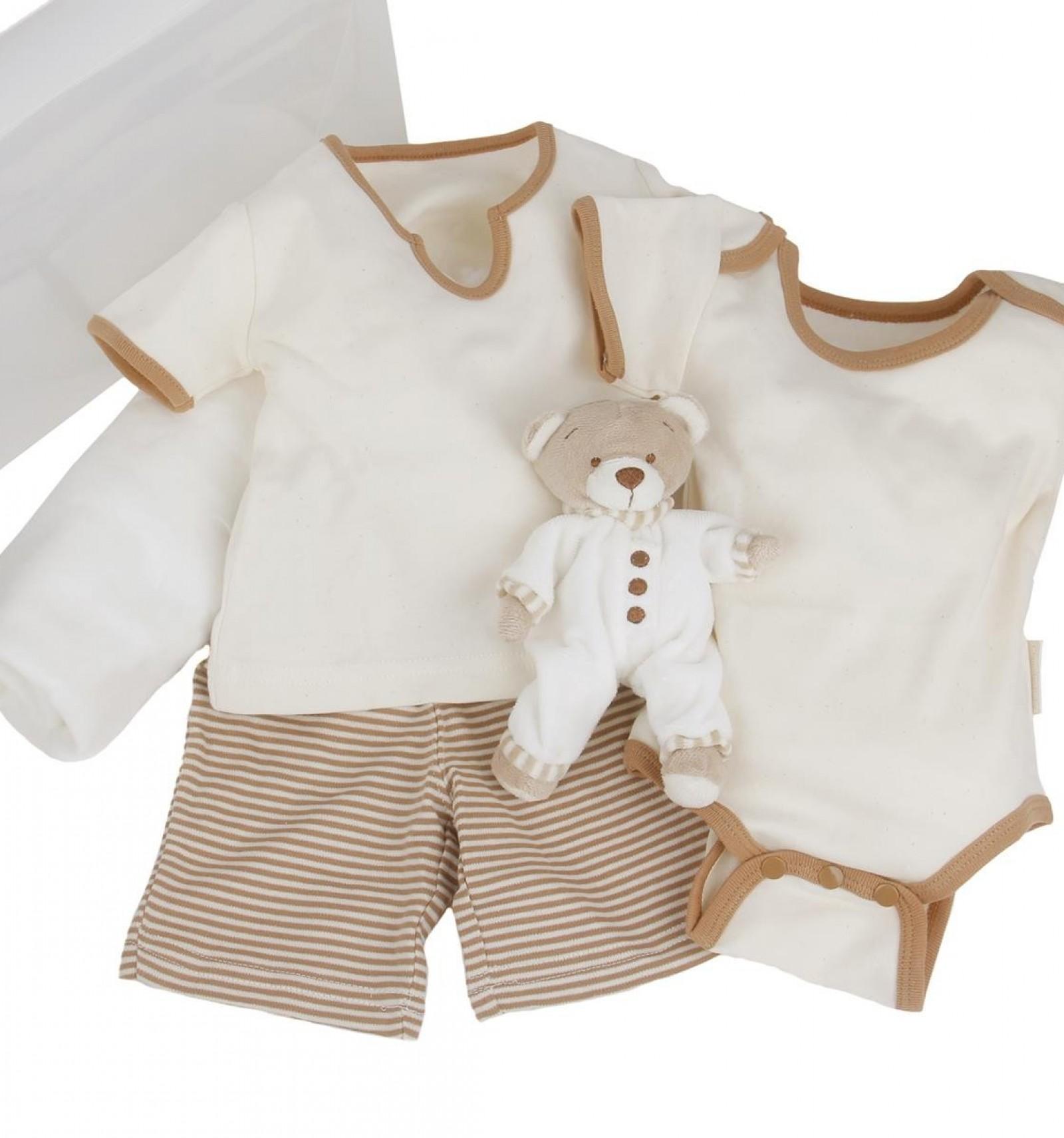 c8b7814b9 Maletin de regalo para bebés y recién nacidos de algodón orgánico de verano  con pijama