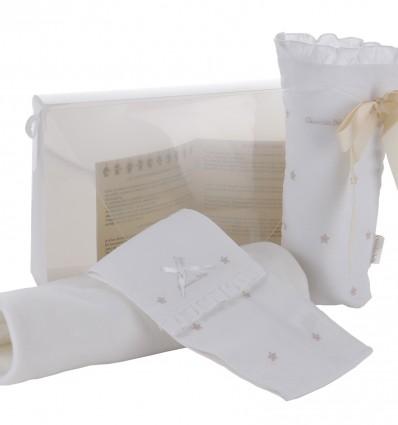 Maletin de regalo para bebés con portapañal,portabiberon y mantita
