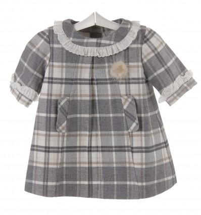 Vestido para bebé de cuadros