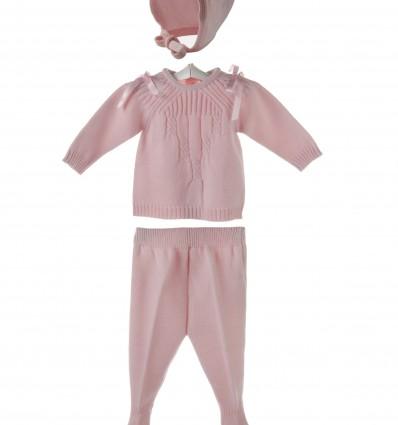 Conjunto de jersey,polaina y capota para bebé