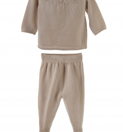 Conjunto para bebé de jersey con polaina