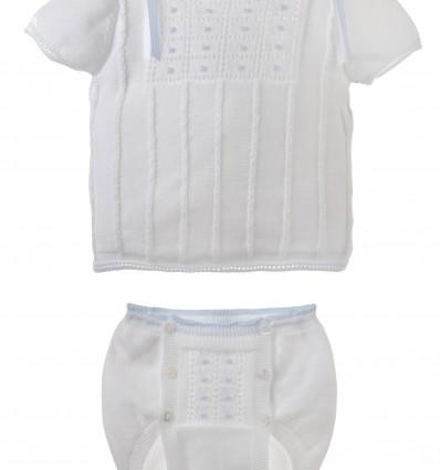 Conjunto de jersey y ranita cubrepañal para bebé
