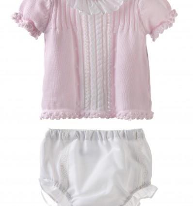 Conjunto para bebé de jersey con braguita