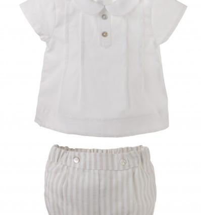 Conjunto para bebé niño de ranita y camisa
