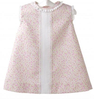 Vestido para bebé de piqué estampado