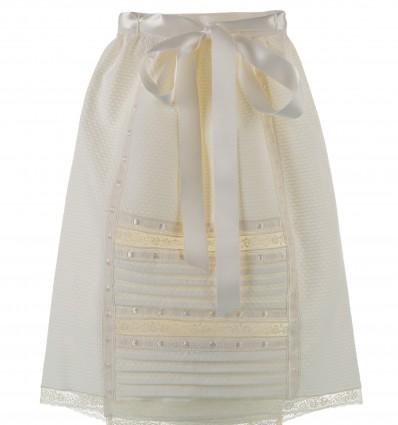 Faldón de bautizo y ceremonia para bebé con jaretas