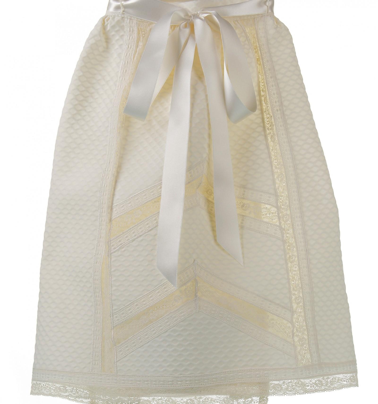 Faldón de ceremonia y bautizo para bebé con entredoses de batista y  Valencienne 86013111767