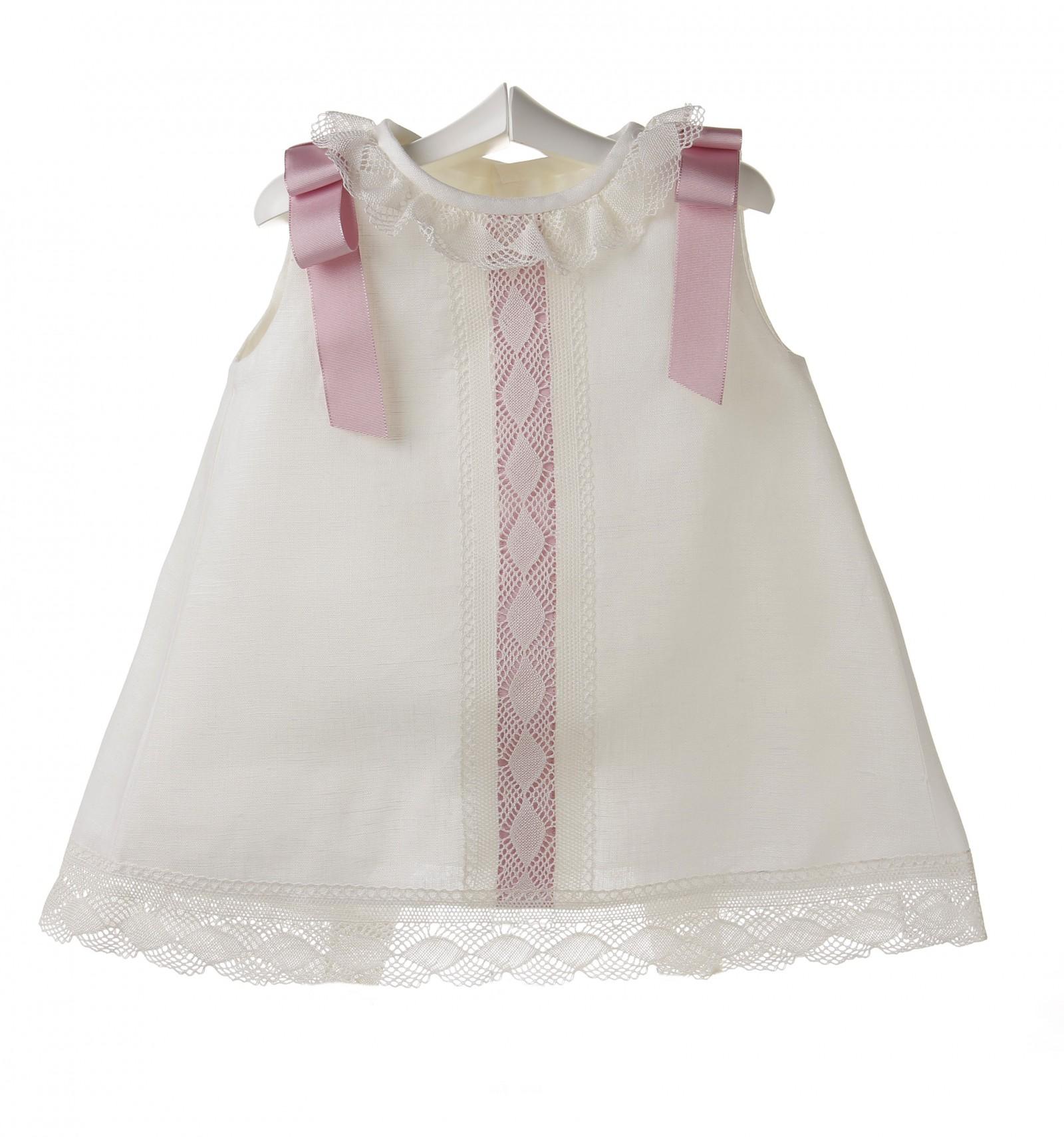 Comprar vestido de ceremonia y bautizo para bebe de lino f2f8cd21c34