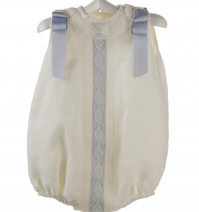 Ranita para bebé de lino marfil
