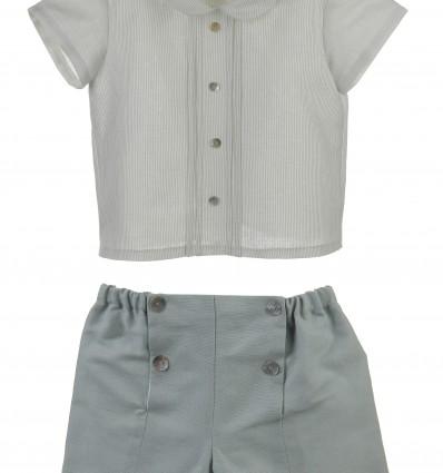 Conjunto para bebé de camisa y pantalón de lino