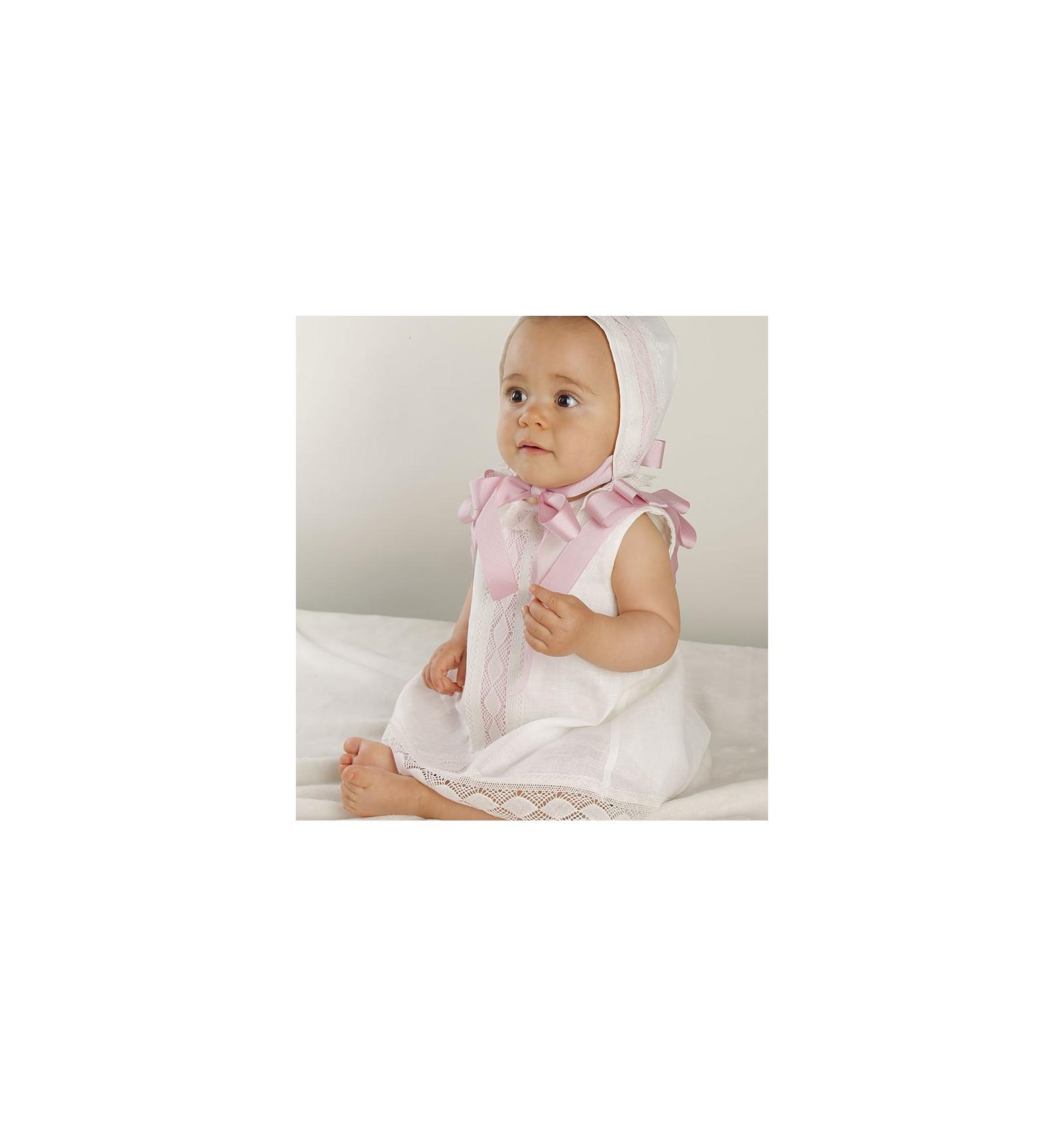 827162e9e Comprar vestido de ceremonia y bautizo para bebe de lino