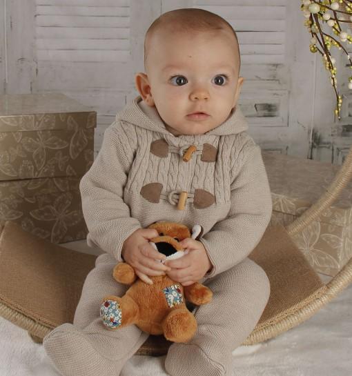 Conjunto de chaqueta y polaina para bebé con canesú de ochos ... f7d0b8108994