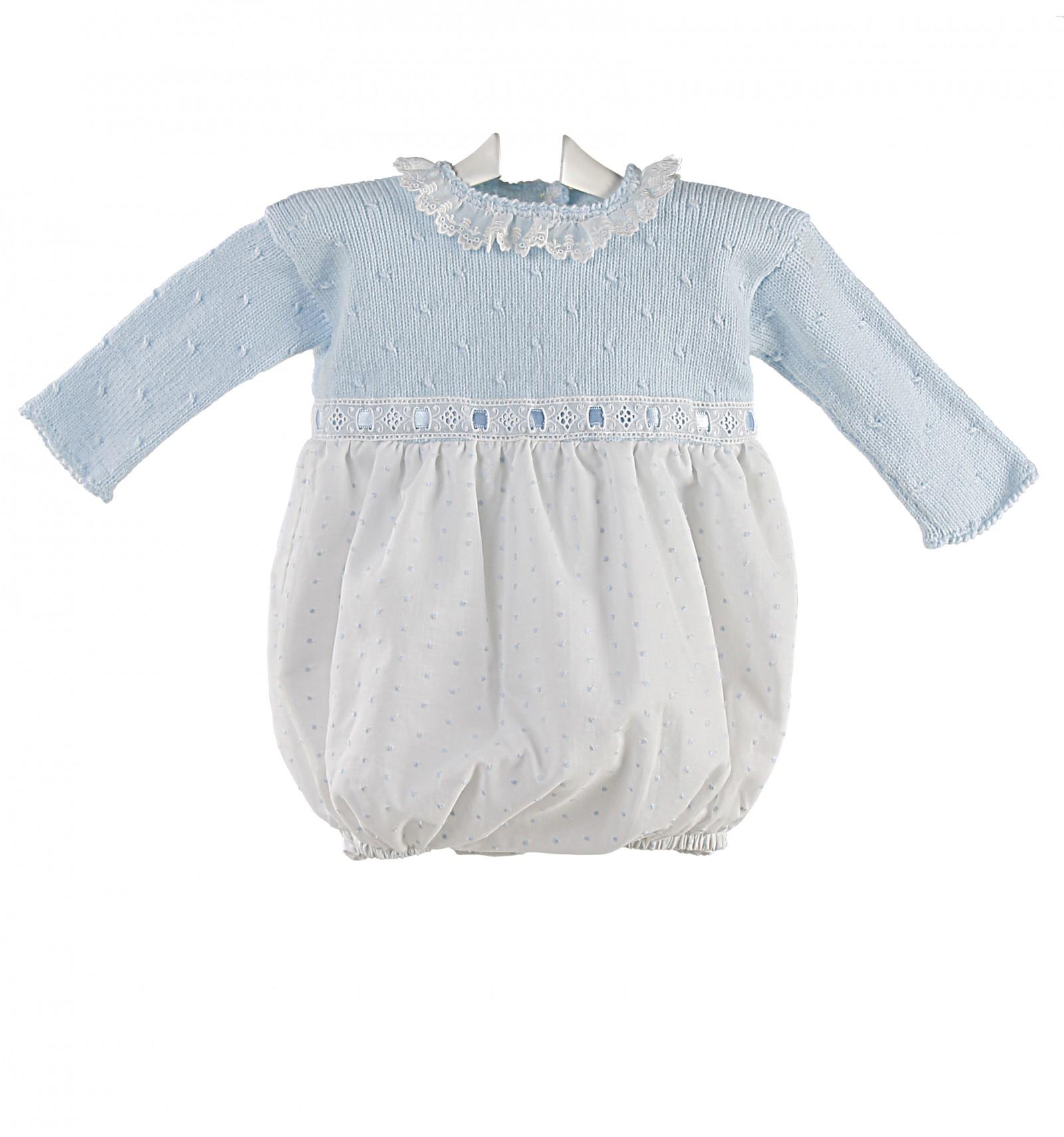 ranita bebe de ceremonia y bautizo para bebe de lana y plumeti. 070fb9296c2