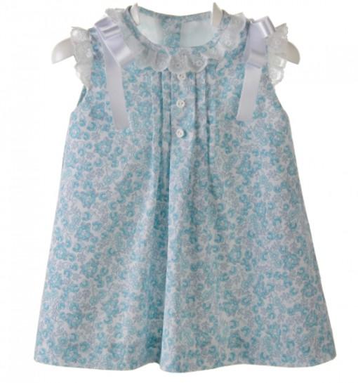f62538ad1 Vestido para bebé y niña de batista estampada
